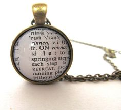 RUN Definition Necklace Jewelry for Runners by JewelrybyJakemi
