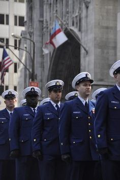Active duty, Reserve and Auxiliary members from U.S. Coast Guard march in the 2009 St. Patrick's day Parade. Photo by PA3 Barbara L. Patton