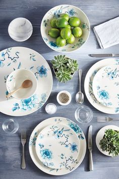 Blue Bird Collection by Wedgwood & Missoni Home Margherita Tableware from Wedding List Co - The Leading ...