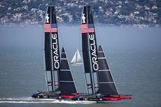 le jeu des sept erreurs : speed tests en baie de San Francisco entre James Spithill and Ben Ainslie (Oracle America's Cup Team)