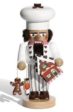 "Steinbach 'Chubby Baker' Nutcracker   $198.00  Exquisite detail elevates a handmade and hand-painted wooden nutcracker crafted in Germany.   Approx. height: 12"".  Wood.  By Steinbach; made in Germany"