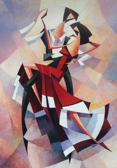 """Saatchi Art is pleased to offer the painting, cubism, oil painting),"""" by Narek Qochunc. Original Painting: Oil on Canvas. Size is 0 H x 0 W x 0 in. Arte Art Deco, Tango Art, Dance Paintings, Cubist Paintings, Original Paintings, Arte Pop, Geometric Art, Modern Art, Pop Art"""