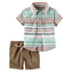 Carter's Baby Boy Striped Shirt & Frayed Shorts Set Source by kohls boy outfits Little Boy Outfits, Little Boy Fashion, Baby Boy Fashion, Toddler Fashion, Toddler Outfits, Baby Boy Outfits, Kids Fashion, Baby Boy Swag, Baby Boy Shoes