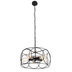 UNITARY BRAND Black Vintage Barn Metal Shade Hanging Ceiling Chandelier Max 300w With 5 Lights Painted Finish -- See this great product.