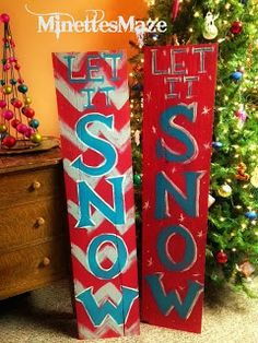 DIY Holiday Sign up-cycle Homemade Christmas, Christmas Crafts, Christmas Decorations, Chevron Christmas, Wood Decorations, Merry Christmas, Holiday Signs, Holiday Fun, Holiday Ideas