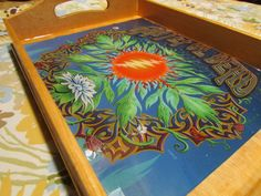 Tray/ Grateful Dead Rolling Tray/ 13 Points Bolt/ Rolling Tray/ Shot Glass Tray/ Food Tray/ Stash Trays/ Easy Wind Family Creations by EasyWindFamily on Etsy