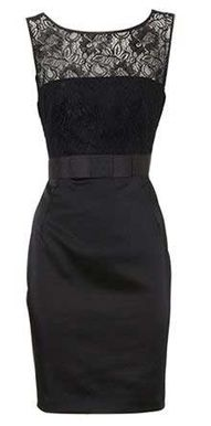 pretty dress! Would go great w a pop of red or hot pink