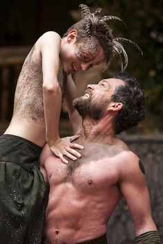 John Light as Oberon and Matthew Tennyson as Puck, in Shakespeare's A Midsummer Night's Dream at the Globe. Directed by Dominic Dromgoole.