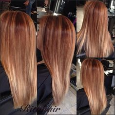 a mixture of coppers, golds, a bit of ombre and highlights. ❤️