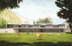 AM3 Architetti Associati, Studio Cangemi Dei Fratelli Cangemi Sas · Comparto scolatico di Castione