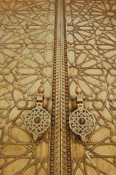 Doors of Royal Palace of Fez, (Dar el Makhzen), Fez, Morocco