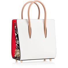 Christian Louboutin Paloma Small Tote Bag ($1,900) ❤ liked on Polyvore featuring bags, handbags, tote bags, handbags purses, white tote, man bag, handbags totes and purse tote