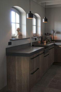 Interieurprojecten - Frieda Dorresteijn Modern Kitchen Interiors, Interior Design Kitchen, Best Kitchen Designs, Cool Kitchens, Decoration, Kitchen Island, Sweet Home, New Homes, Lights