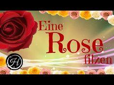 DIY Wunderschöne Rose filzen - YouTube