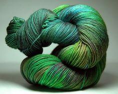 Smee Superwash Merino Gold Mill Sock Yarn by fallcreekfibers
