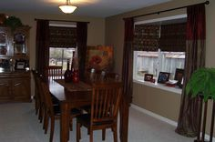 Rustic Wood Chairs Set Design Also Creative Kitchen Bay Window Treatment Idea And Vase Table Centerpiece How to Decorate Kitchen with Bay Window Treatment Dining Room