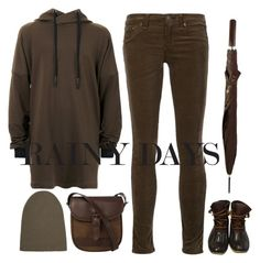"""me in the rain"" by bodangela ❤ liked on Polyvore featuring Chanel, STRATEAS.CARLUCCI, rag & bone/JEAN, Sperry, DUBARRY and Helmut Lang"