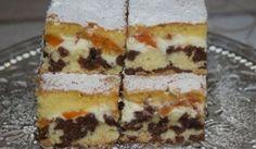 Strakatý koláč s tvarohom a marhuľami Dessert Recipes, Desserts, Sweet Recipes, Yummy Treats, Tiramisu, Food And Drink, Ethnic Recipes, Cakes, Fotografia