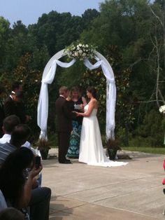 Pretty wedding arch, suitable for beach or garden ≈ #wedding #outdoor #garden #beach