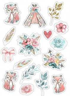 Homemade Stickers, Diy Stickers, Printable Planner Stickers, Journal Stickers, Printables, Scrapbooking Stickers, Scrapbook Paper, Stickers Kawaii, Tumblr Stickers