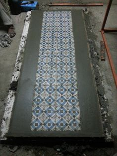 Concrete Table Top with Pattern  #Concrete #Pattern #Experiments #Design #Pakistan #Architecture #OpenDoorDesignStudio