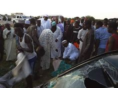Katsina State Governor Aminu Bello Masari came to the aid of victims of a crash which occurred today. Governor Masari who was on his way back from Adua immediately ordered vehicles on his convoy to convey the injured to the hospital. He also directed officials to buy whatever is needed for their treatment. How nice!. Photos after the cut You may also like:News: woman gets black eye after being battered by husband(photos)  Latest news: Katisina Governor helps rescue accident victims(photos)