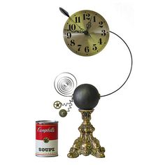 No 5245 Small Exploding Clock by SteampunkRoger on Etsy, $360.00