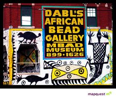 MBAD African Bead Museum : 6559 Grand River Ave. Detroit, MI 48208 (313) 898-3007  Bead Gallery Hours: 12pm to 7pm Mon-Sat.  We are a major repository for African artifacts- including sculptures, textiles, pottery, and bead works dating back hundreds of years, from countless cultures throughout Africa.