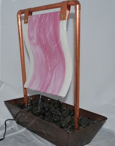 Side angle of table top fountain