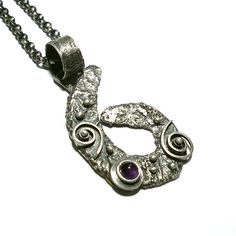 Amethyst Pendant by Norman Man  - product images  of SCHJ  #silverpendant #pendant #silverjewellery #jewellery #jewellerystore #jewelleryboutique #handmadejewellery #uniquejewellery #gifts #normanman