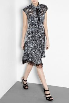 Rockabilly Tattoo Lace Dress by McQ Alexander McQueen
