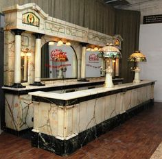 I wanted to bid on this antique marble and alabaster soda fountain that had been exhibited at the 1893 Chicago World's Fair. Initially assessed at $125,000.00, the Schmidt Museum of Coca-Cola Memorabilia recently sold it at auction for $4,500,000.00. Gulp.