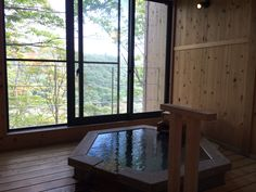 An inn where you can enjoy an exhilarating open-air hot spring bath with white-colored waters in the mountains. 69 min by JR Shinkansen from Tokyo Sta. Hot Springs, Tokyo, Windows, Baths, Outdoor Decor, House, Mood, Mountains, Home Decor
