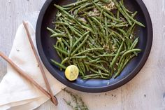 Roasted Green Beans and Shallots with Lemon and Thyme Recipe