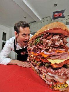 bigest sandwish ever made,loving it