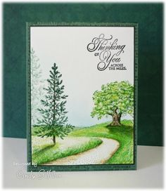 Lovely as a Tree Thinking of You card by Cindy Gilfillan