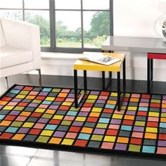 Campari Squares Bright Coloured Rubix Cube Rug Phoenix Interiors In North Devon Barnstaple