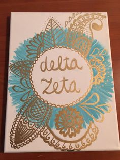 Delta Zeta monogram canvas painting https://www.etsy.com/listing/484933472/custom-monogram-canvas