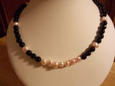 Baroque pearl and agate necklace £20.00