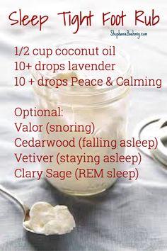 sleep tight foot cream..  stephanieboehmig.com
