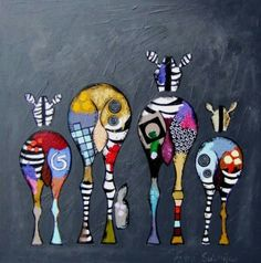 Ester steintjes Zebra Kunst, Zebra Art, Giraffe Art, Pintura Graffiti, Posca Art, Funky Art, Happy Paintings, Naive Art, Horse Art