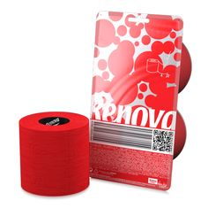 Red Toilet Paper - Crystal clear exclusive packaging for the sexiest paper on Earth.