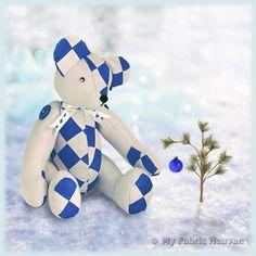 ❄️ Blue, Blue, Blue Teddy... crikey its cold! ❄️ #sewing