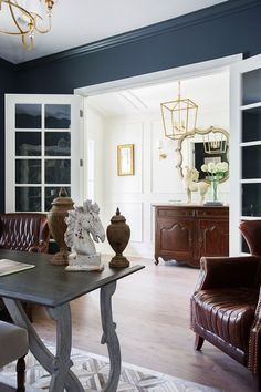 Study view to Foyer #interiordesign #modelhome #cottagehomecompany #study #office