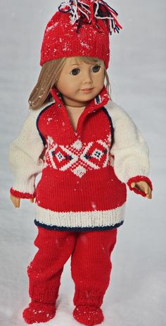 My doll Annelise asked if she could travel with me to Sochi for the Winter Olympics 2014.  Its so cold in the Sochi Mountains and so I knew she would need a lovely warm sweater!  Design: Målfrid Gausel