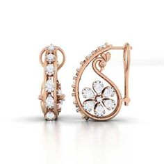 Buy Pear Diamond Bali with Rose Gold different sizes, designs , pattern and easy to buy at budget price. Diamond Pendant, Diamond Jewelry, Diamond Earrings, Diamond Necklaces, Diamond Mangalsutra, Solitaire Earrings, Jewelry Necklaces, Small Earrings, Crystal Earrings