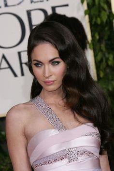 Megan Foxs glamorous, long hairstyle