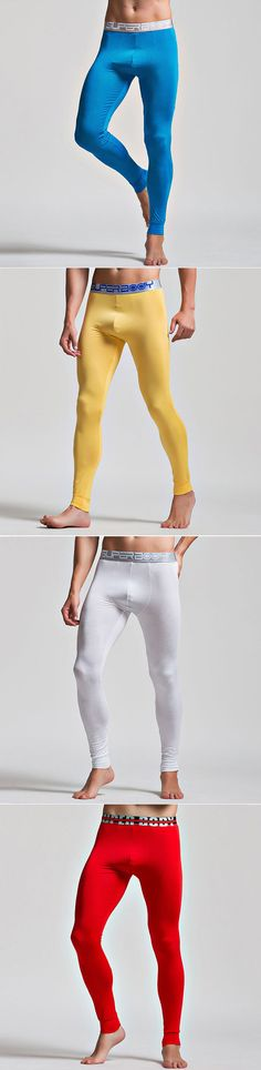 US$14.79 Fall Modal Super Thin Elastic Legging Underwear Long Johns Sleepwear Bottoms for Men