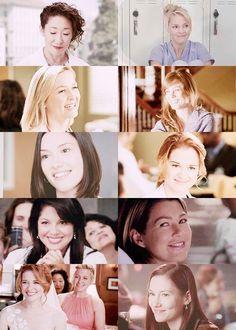 Grey's girls smiling