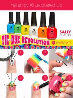 Tie-dye nail art tutorial